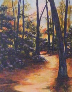 Through the Woods, Acrylic by Kathleen Willingham (March 2012)