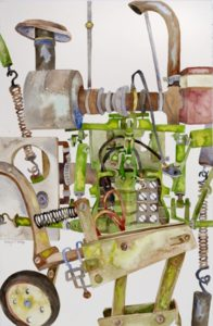 Contraption No. 10, Watercolor by Kathryn B. Phillips (July 2012)