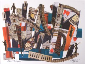 Steps and Bridges, Mixed Media Collage by Katie Lemen (October 2012)