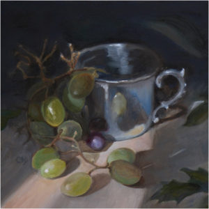 Kindness, Oil on Board by Christine Dixon, Size 8in x 8in (July 2017)