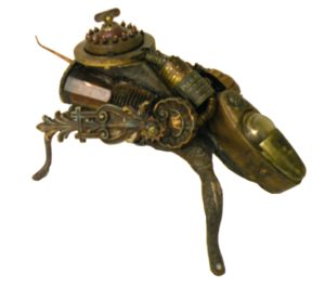 HONORABLE MENTION: Sinister Bug, Assemblage by Leslie Brier (July 2012)