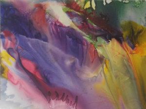 Let It Flow, Watercolor by Deborah Elaine, Size 24in x 18in (July 2017)