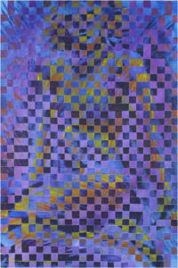 Light and Shadow #2, Acrylic on Canvas, Woven by Richard Minard, Size 30in x 20injpg (July 2017)