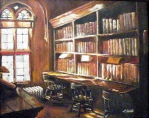 Stacks, Acrylic on Canvas by Lynn Abbott (March 2012)