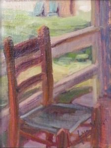 Chair on the Porch, Oil by Lynn Mehta (June 2012)