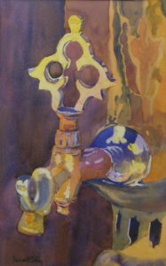 Samovar, Watercolor by Machael Foster Shibley (April 2012)