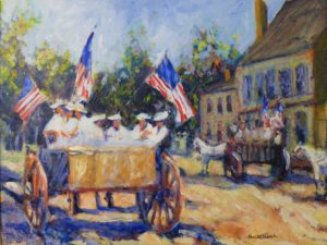 Falmouth Politics July 4 1901, Oil by Marcia Chaves (October 2012)