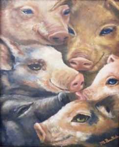 Sentient Beings, Oil by Melissa Bartosh (June 2012)