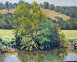 James River Crossing, Oil on Canvas by Nancy B. McDearmon (September 2012)