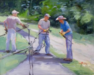 Nelson Jake Bo and the Come Along, Oil on Canvas by Nancy Bowen Brittle (November 2012)