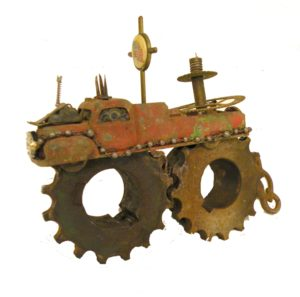 Gods Tractor, 3D Sculpture by Pam Weldon (July 2012)