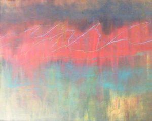 Rocky Mountain Sunset, Acrylic by Paula Raudenbush (September 2012)