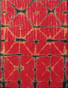 Red Kaleidoscope, Textile by Mary Magneson, Size 26in x 20in (July 2017)