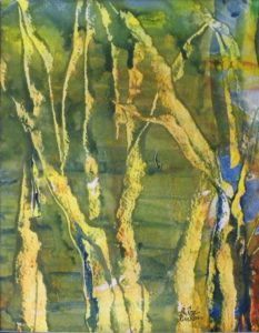 The Viridian Grove, Watercolor by Rita Rose Apter and Rae Rose Cohen (April 2012)
