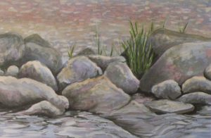 It Rocks, Watercolor by Sandra Staley (June 2012)