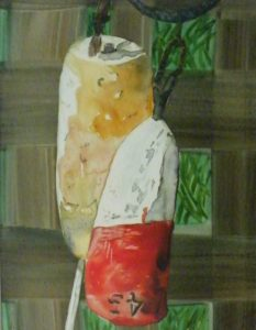 Malborough Floats, Watercolor on Yupo by Sue Henderson (March 2012)