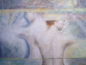 Haunt, Acrylic and Graphite on Canvas by Susan Skrzycki (March 2012)