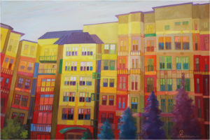 The Grand Color Game I, Oil on Canvas by Chris Luckman, Size 24in x 36in (July 2017)