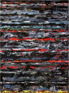 The Red Symphony (No.2), Oil on Canvas by Miles DeCoster, Size 60in x 44in (July 2017)