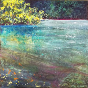 The River, Acrylic by Karen Julihn, Size 18in x 18in (July 2017)