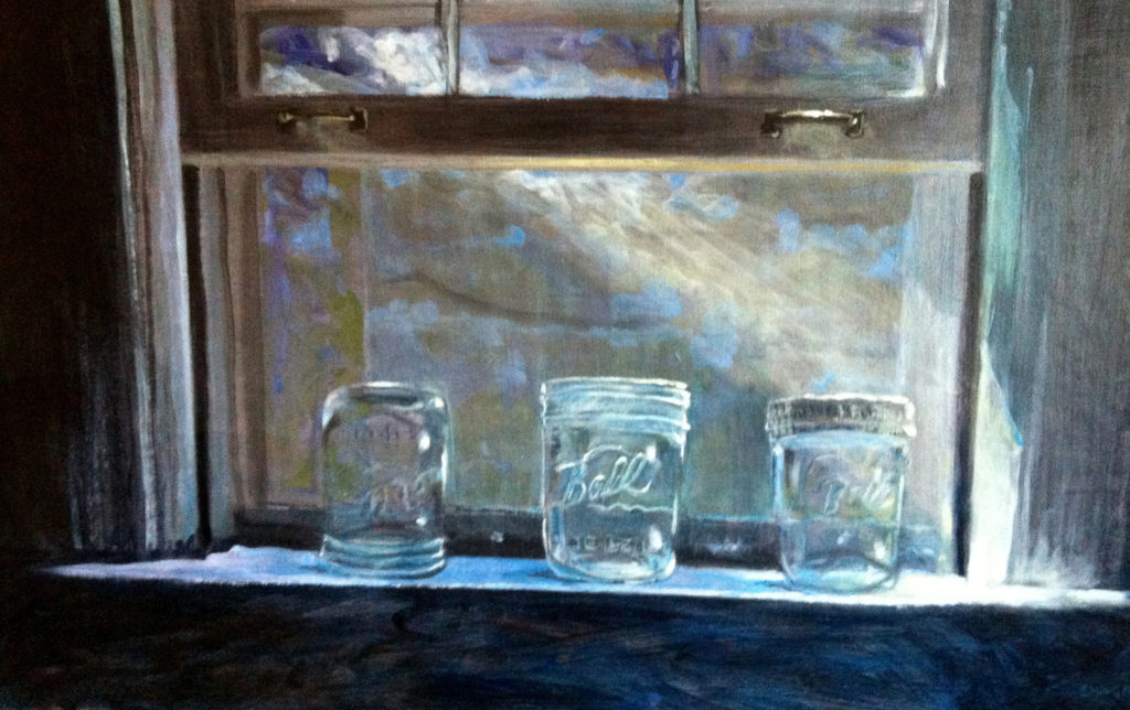 FIRST PLACE: Empty Jars, Acrylic on Panel by Tom Smagala (March 2012)