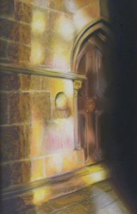 Stained Glass Gift, Pastel by Patricia Hill (November 2012)