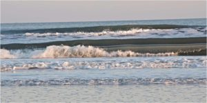 Azul Jersey Waves (2.2), Photography on Canvas by Laura O'Leary, Size 10in x 20in, $165 (August 2017)