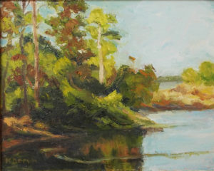 Boyd Hill I, Oil b y Katherine C. Dervin, Size 8in x 10in, NFS (August 2017)