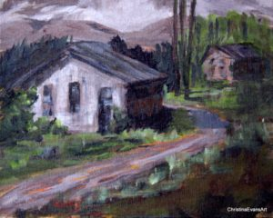 Old Fishing Shack, Acrylic by Christin Evans (December 2012)