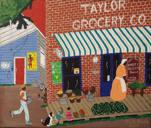 Country Store Prospect, Acrylic by Mark Prieto, Size 16.5in x 19.5in, $350 (August 2017)