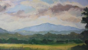 High Peak Amherst Co, Oil on Paper by Nancy McDearmon (December 2012)