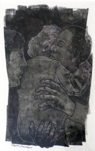 Mother Father and Child, Ink by Phyllis Graudszus (December 2012)