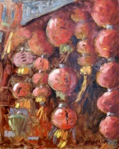 Chinese Lanterns, Oil on Panel by Tom Smagala (December 2012)