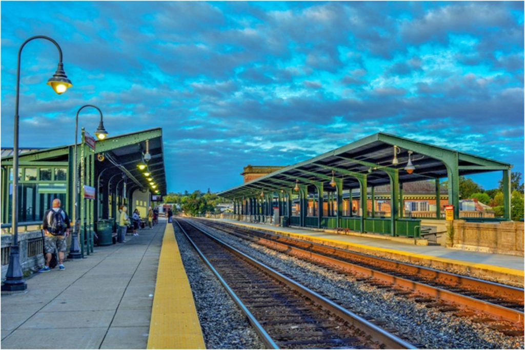 THIRD PLACE: Waiting for the Train, Digital Photograph, Ltd. Ed. by Addison Likins, Size 20in x 30in, $520 (August 2017)