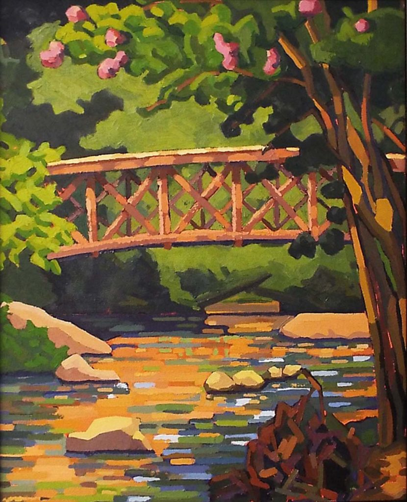 Alum Springs, Oil on Canvas by Joan Wiberg, 20in x 16in, $500 (October 2017)