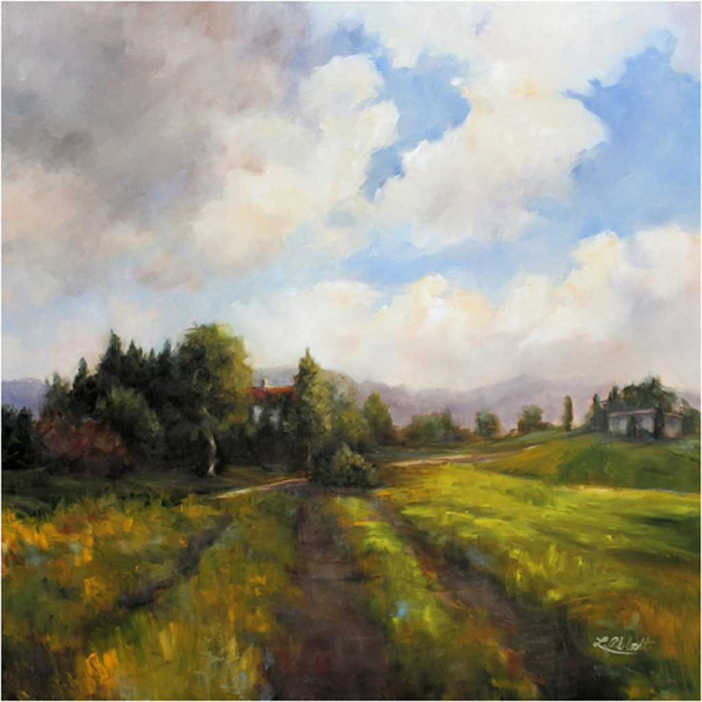 FIRST PLACE: One Step at a Time, Oil by Lynn Abbott, 36in x 36in, $3200 (November 2017)
