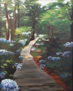 Sunlit Path, Oils by Colette Caprara, 20in x 16in, $275 (November 2017)