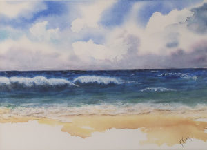 Vitamin Sea, Watercolor by Kathleen Mullins, 10in x 13.75in, $150 (November 2017)
