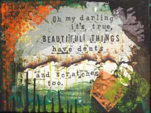Beautiful Things, Mixed Media by Katie Mulhern, 12in x 16in, $100 (Dec. 2017-Jan.2018)