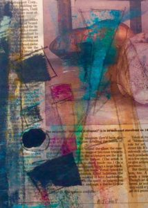 Covering the News II, Mixed Media by Barbara Taylor Hall, 7in x 5in, $95 (Dec. 2017-Jan.2018)