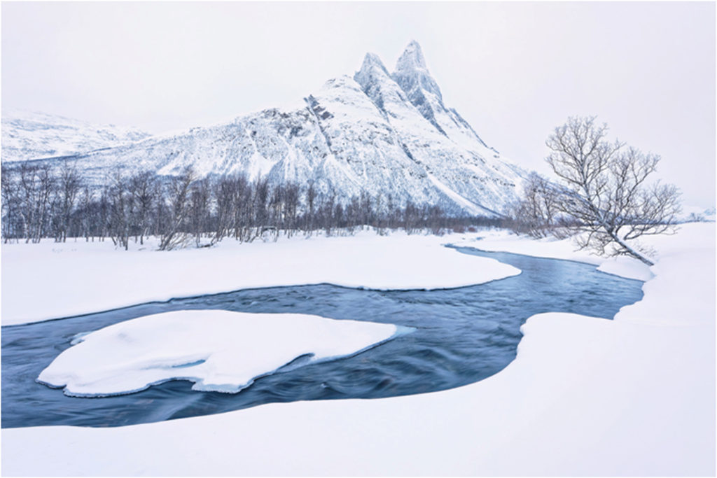 HONORABLE MENTION: Arctic Blue, Photography by Donnie Fulks, 20in x 30in, NFS (February 2018)