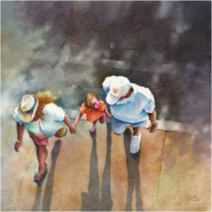 HONORABLE MENTION: Almost Home, Watercolor by Alexis Lavine, 13in x 13in, $1500 (March 2018)