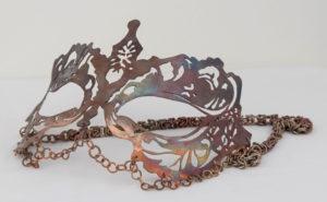 Copper Mask, Copper by Sarah McDaniel, 5in x 2in x 5in, $150 (March 2018)