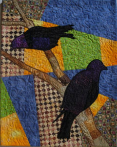 Differing Views, Fiber by Judith McIrvin, 13in x 16.25in, $200 (March 2018)