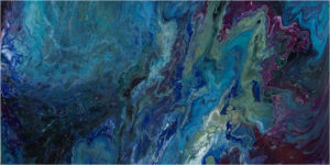 From Above the Abyss, Acrylic by Sall Rhone-Kubarek, 12in x 24in, $400 (March 2018)