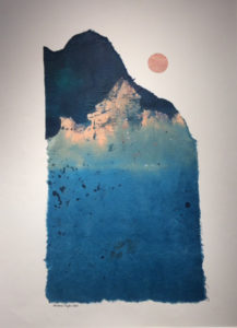 FIRST PLACE, Sunrise, Acrylic by Barbara Taylor Hall, 29in x 21in, $700 (March 2018)