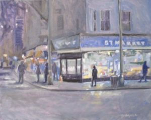 57th Street Market, Oil by Tom Smagala, 16in x 20in (August 2013)