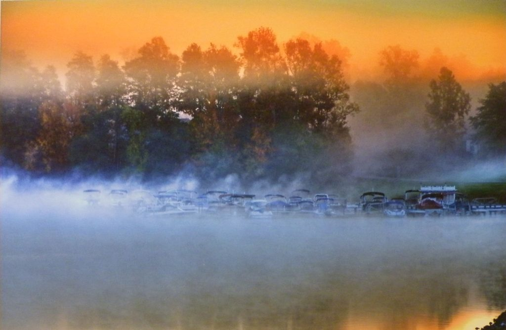 SECOND PLACE: Boats in the Mist, Photograph by Gregg McCrary, 11in x 17in (April 2013)