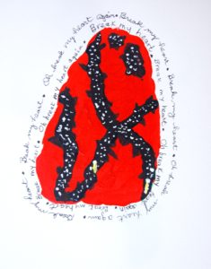 Break My Heart, Acylic by Millie Abell, 8in x 7in (July 2013)