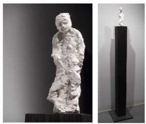 Despairing Boy, Plaster Wood Steel Wax by Helene Roberts, 65inx6inx6in (March 2013)